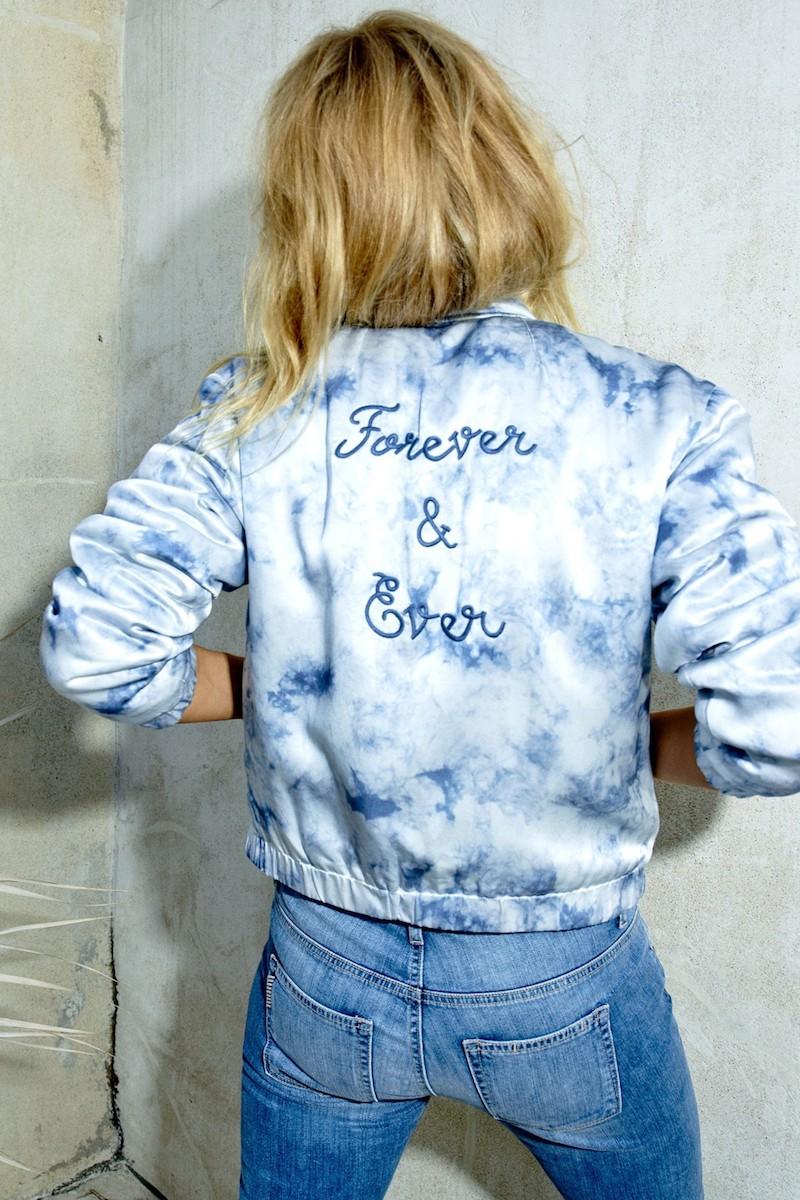Rosie HW x PAIGE Flo Silk Bomber Jacket