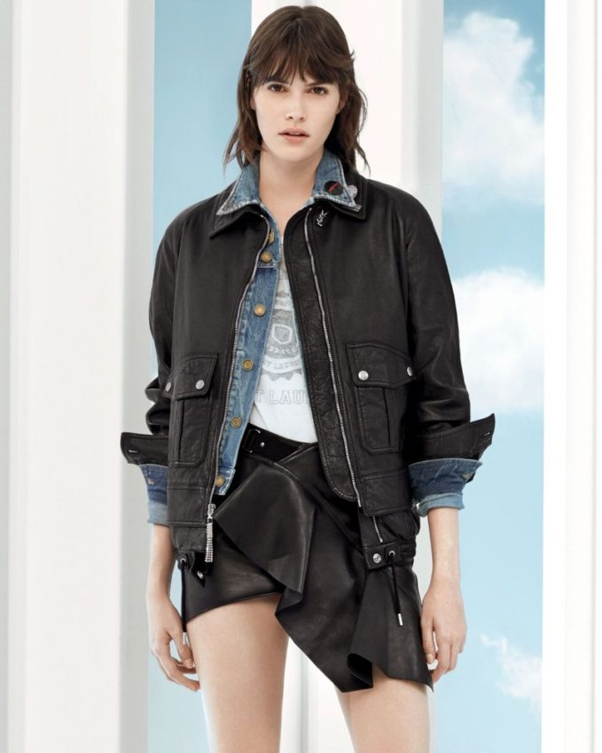 Saint Laurent Embellished Lambskin Leather Jacket
