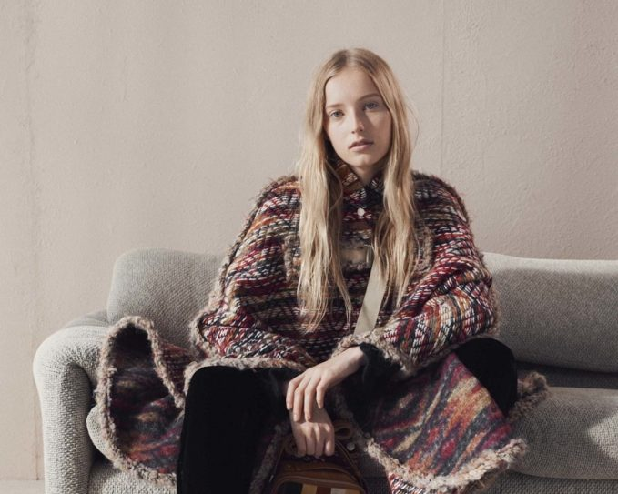 See By Chloé Oversized tweed cape