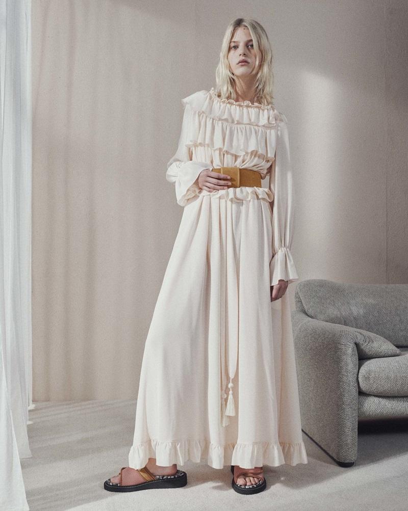 See By Chloé Ruffled silk top