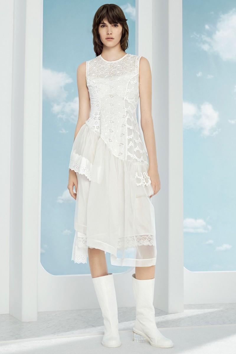 Simone Rocha Frill Patchwork Dress