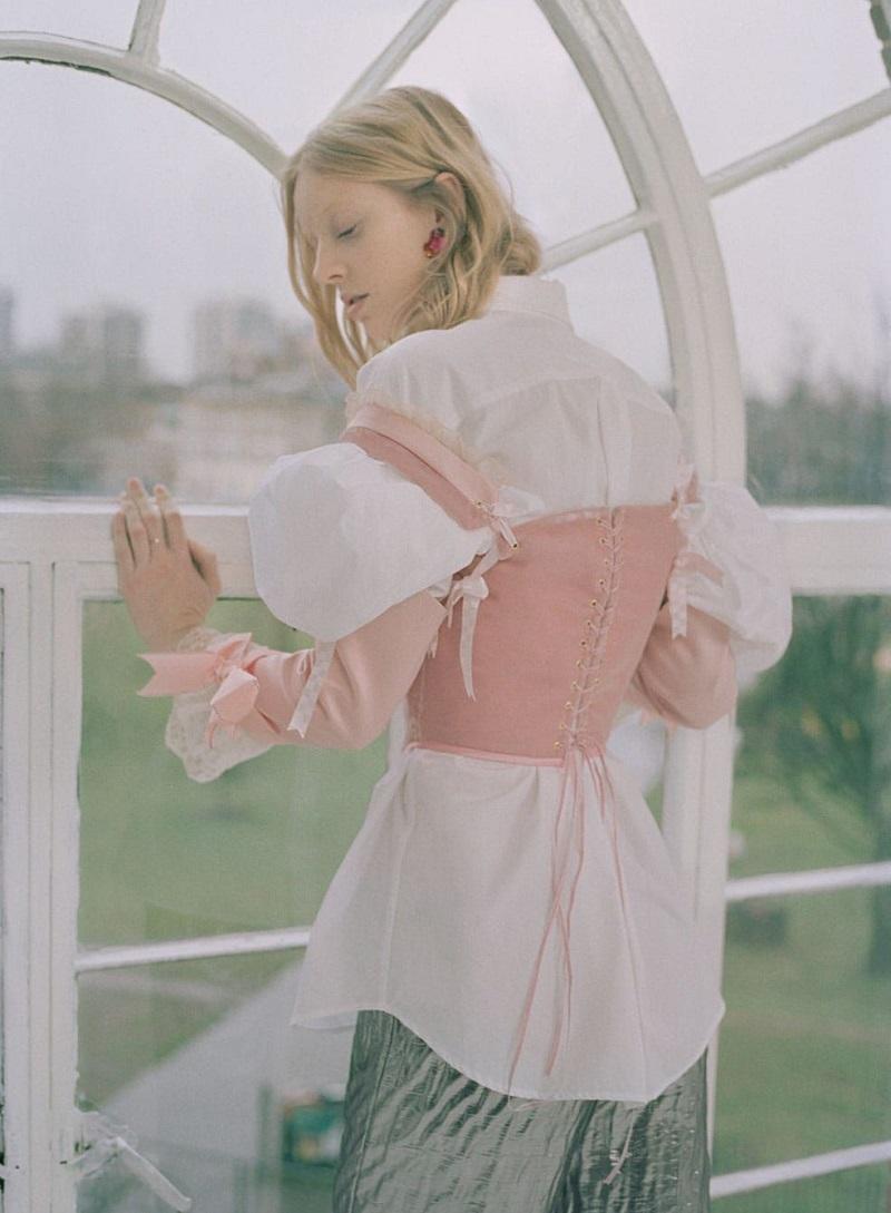 Simone Rocha Puff-sleeve cotton shirt
