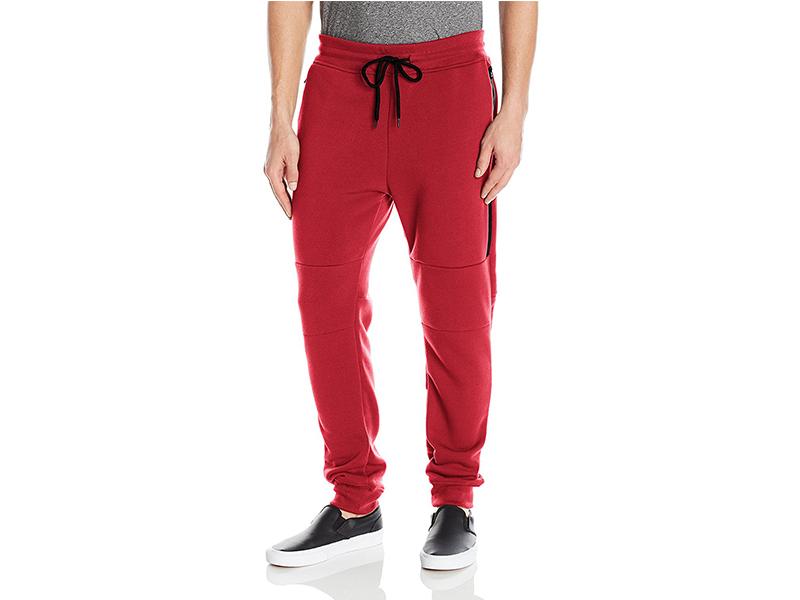 Southpole Basic Fleece Jogger Sweat Pants with Waterproof Long Zippered Pocket