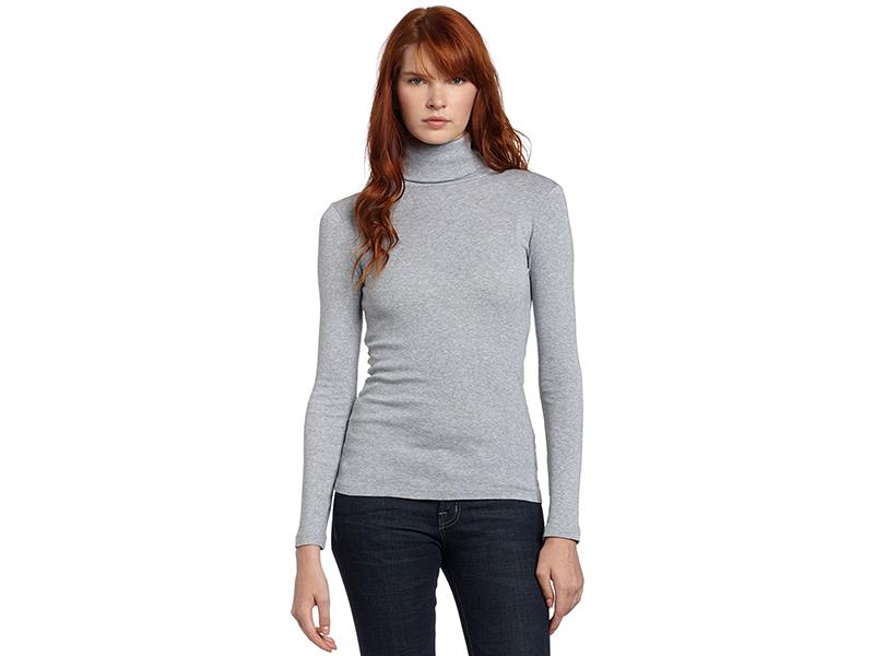 Splendid 1x1 Long-Sleeve Turtleneck Sweater
