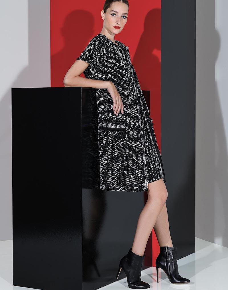 St. John Collection Liya Tweed Short-Sleeve Artisan Topper