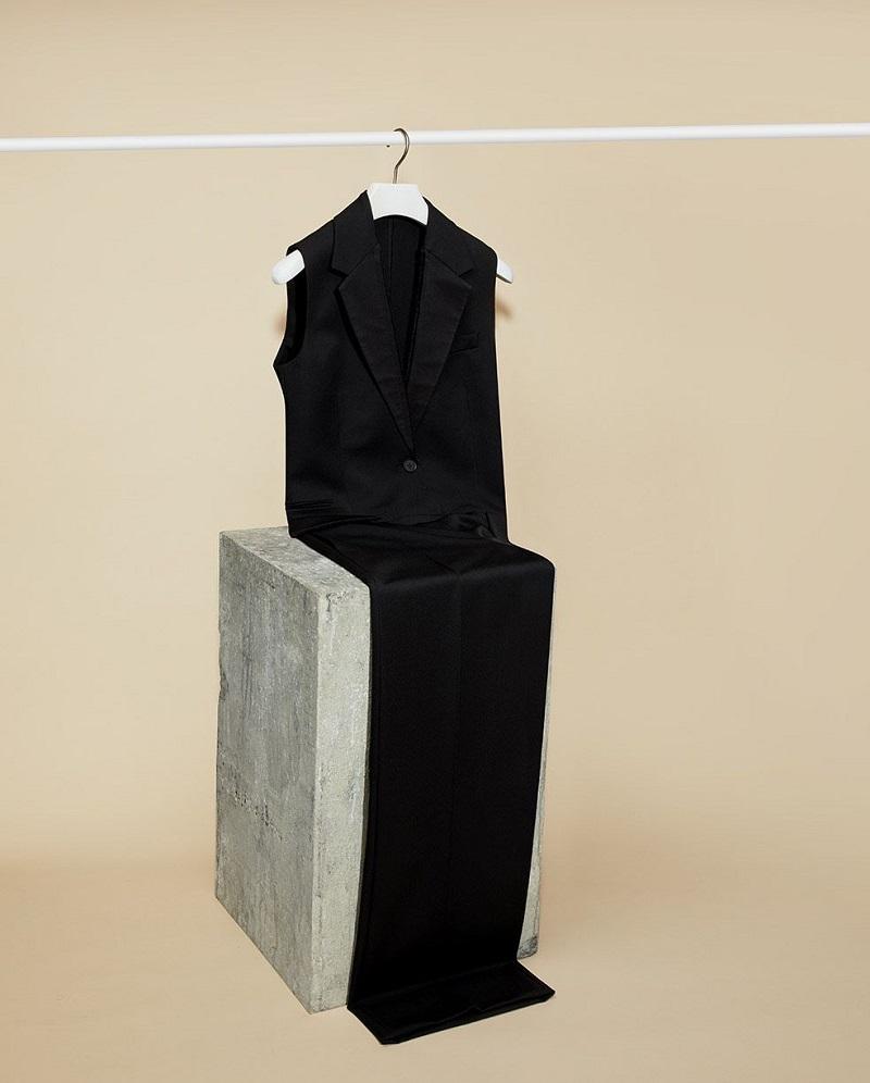 Stella McCartney Tuxedo wool-twill jumpsuit