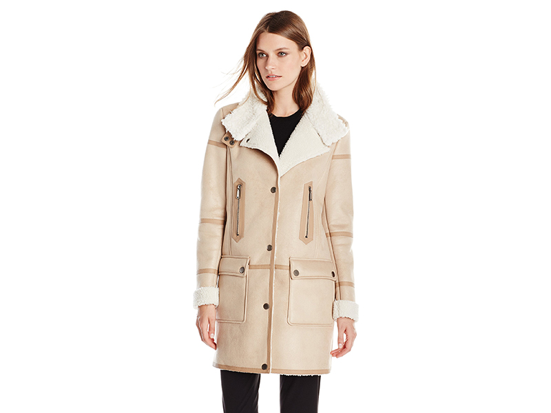 T Tahari Angie Faux-Shearling Jacket