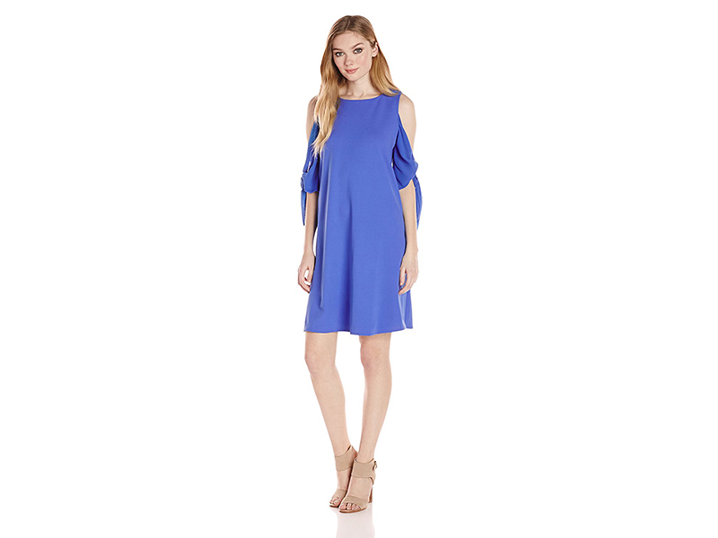Taylor Dresses Cold Shoulder Crepe and Chiffon