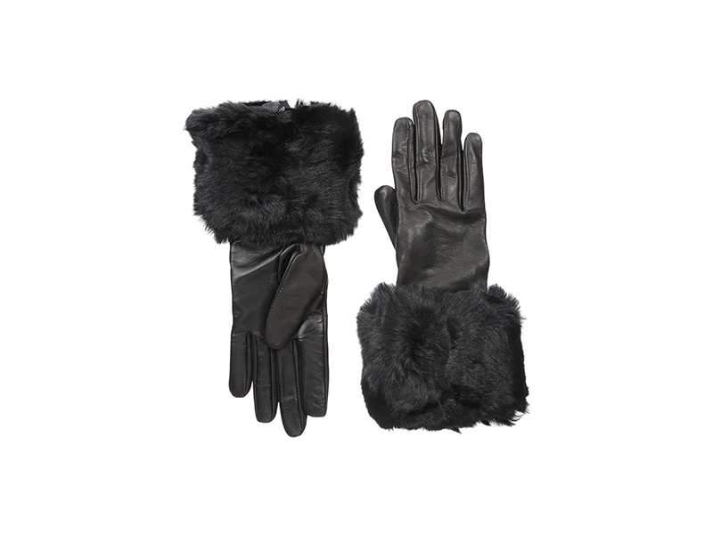 Ted Baker London Emree Faux Fur Cuff Gloves