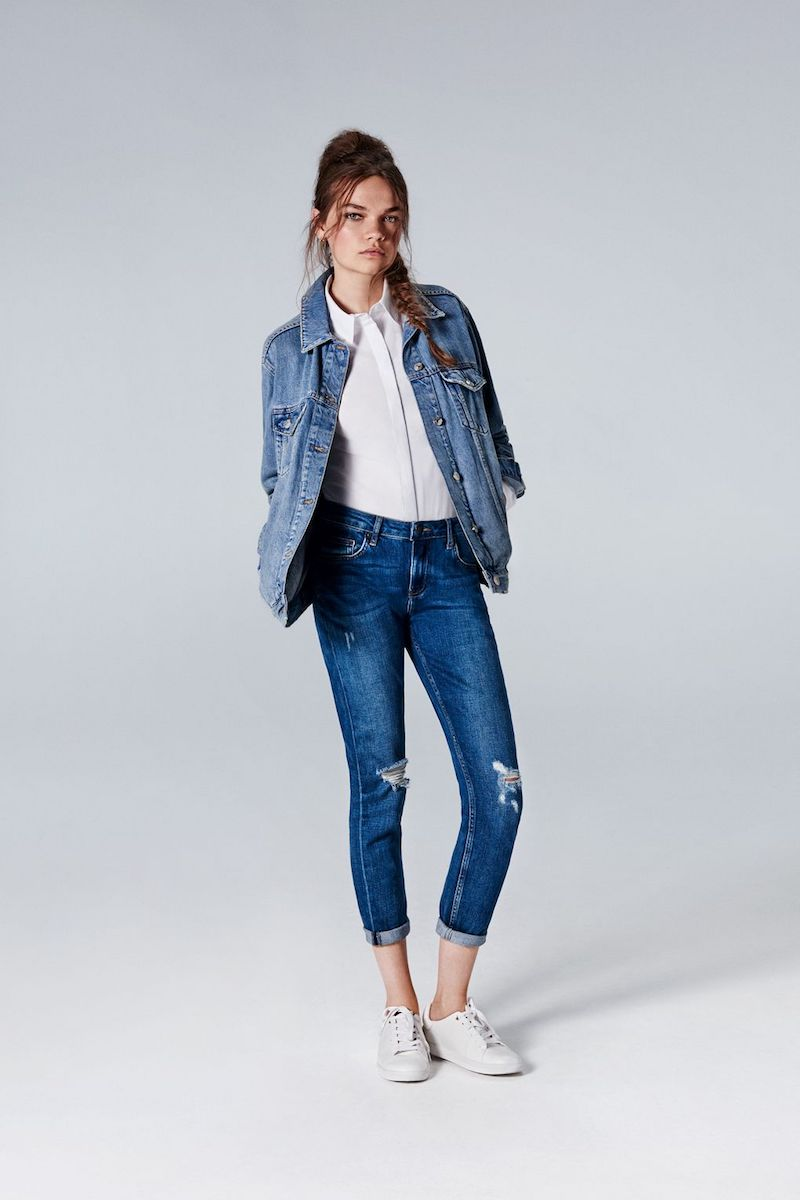 Topshop MOTO Dark Blue Lucas Jeans