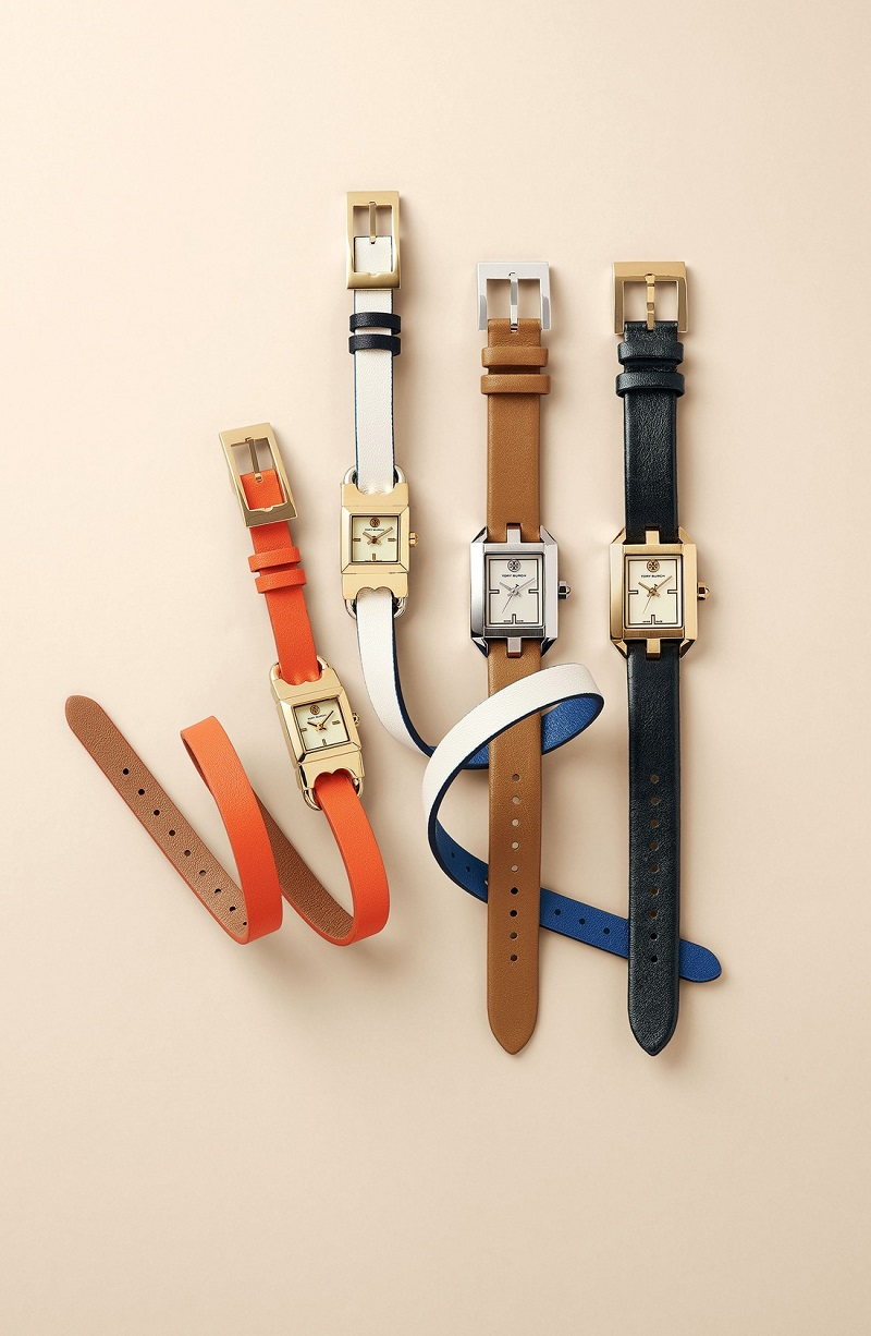 Tory Burch Dalloway Leather Strap Watch