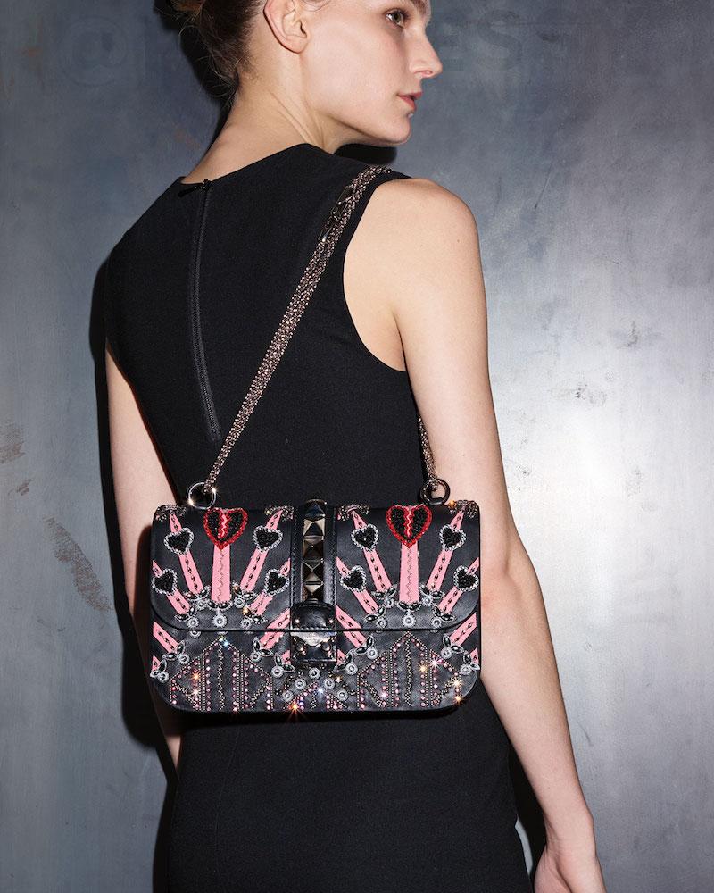 Valentino Lock Medium Love Blade Shoulder Bag