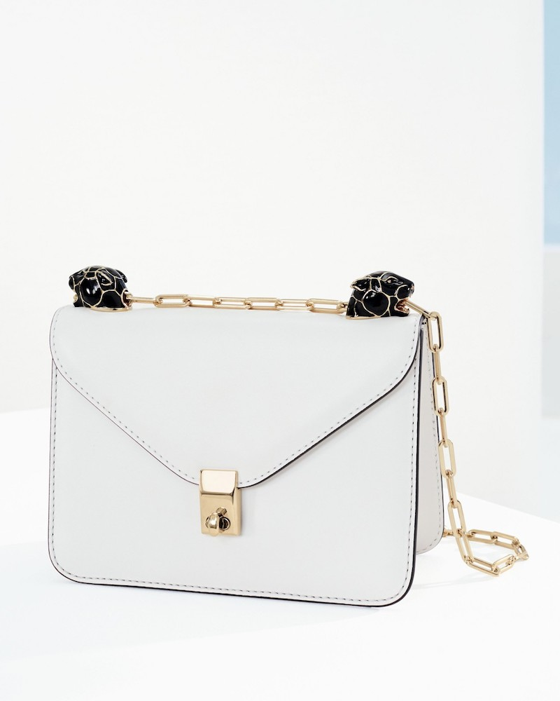 Valentino Small Panther Leather Shoulder Bag