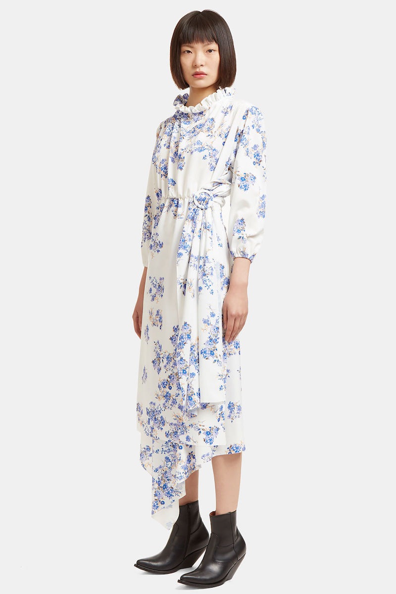 Vetements Mid-Length Wrap Skirt Floral Dress