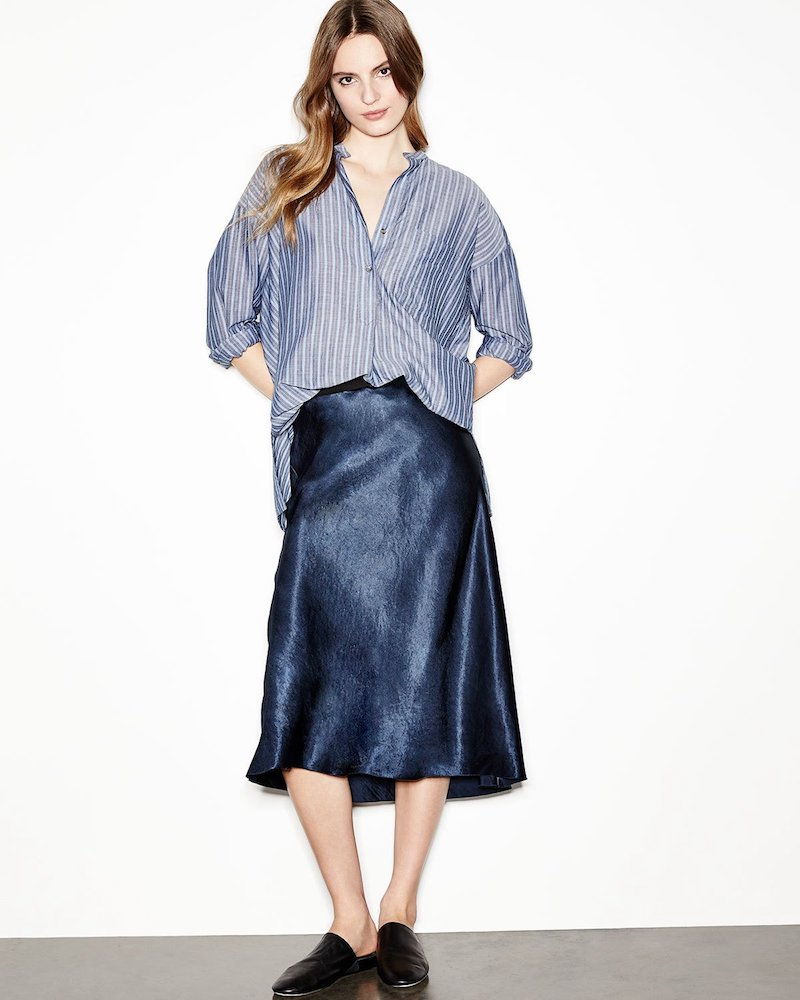 Vince Satin Bias-Cut Slip Skirt