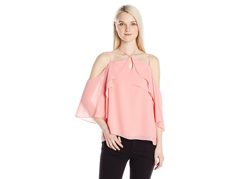XOXO St Georgette Ruffle Off the Shoulder Top
