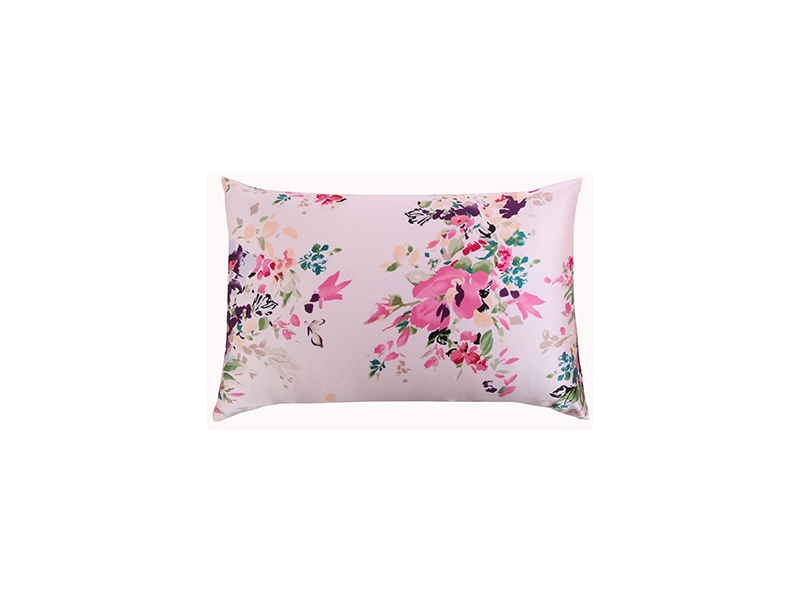 YONDER Silk Pillowcase for Hair and Skin with Hidden Zipper Chinese Pastel Water Colors Print