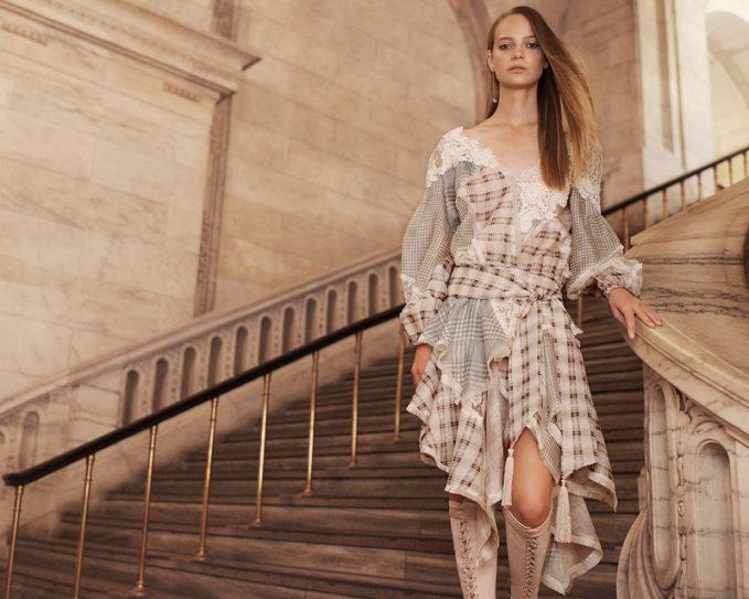Zimermann Cavalier Plaid Dress