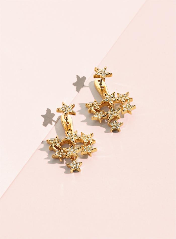 kate spade new york Ear Jackets Clear/Gold Earrings Jacket