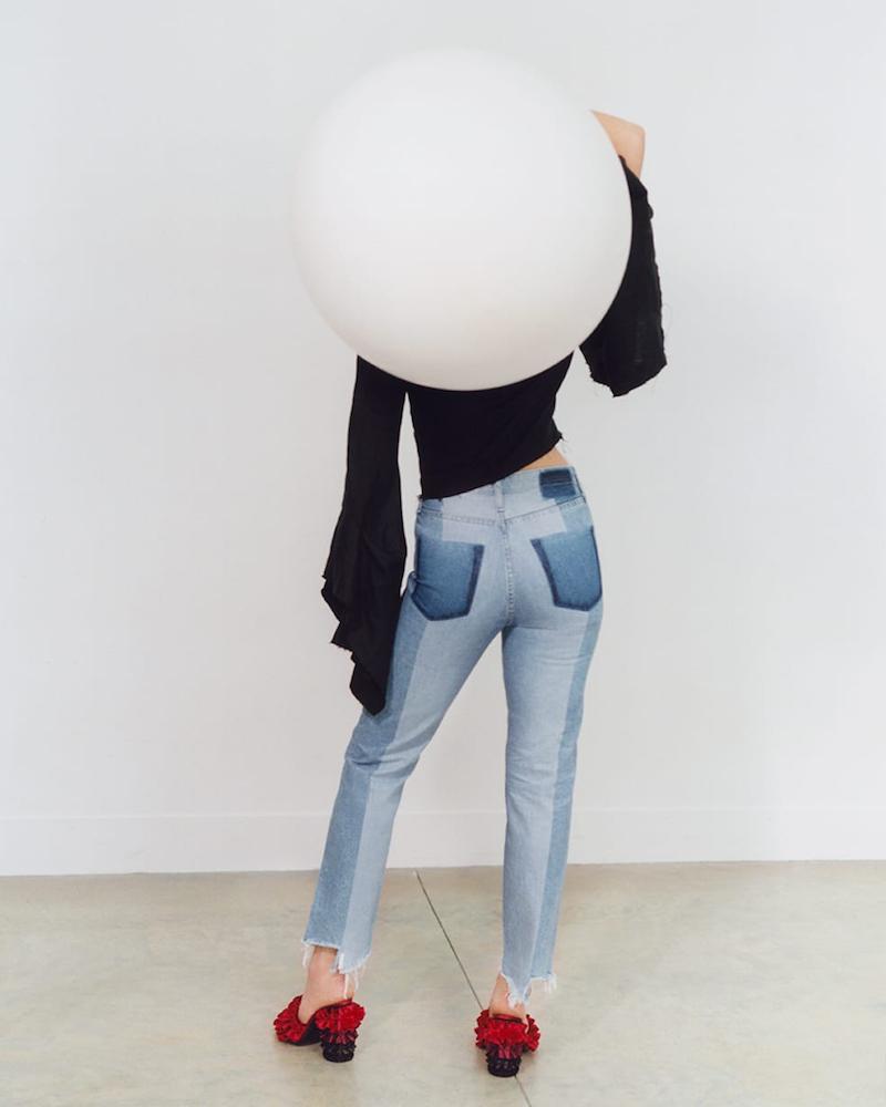 AG The Phoebe Frayed-Hem Straight High-Rise Jeans