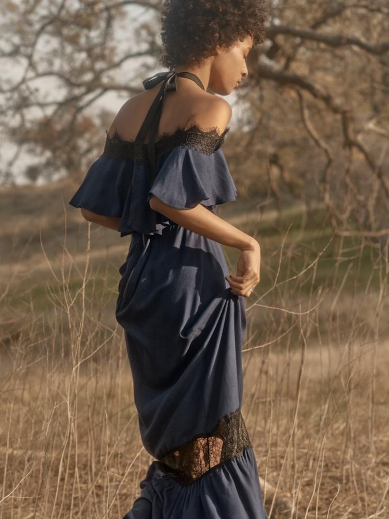 Alice + Olivia Mitsy Halter Maxi Dress
