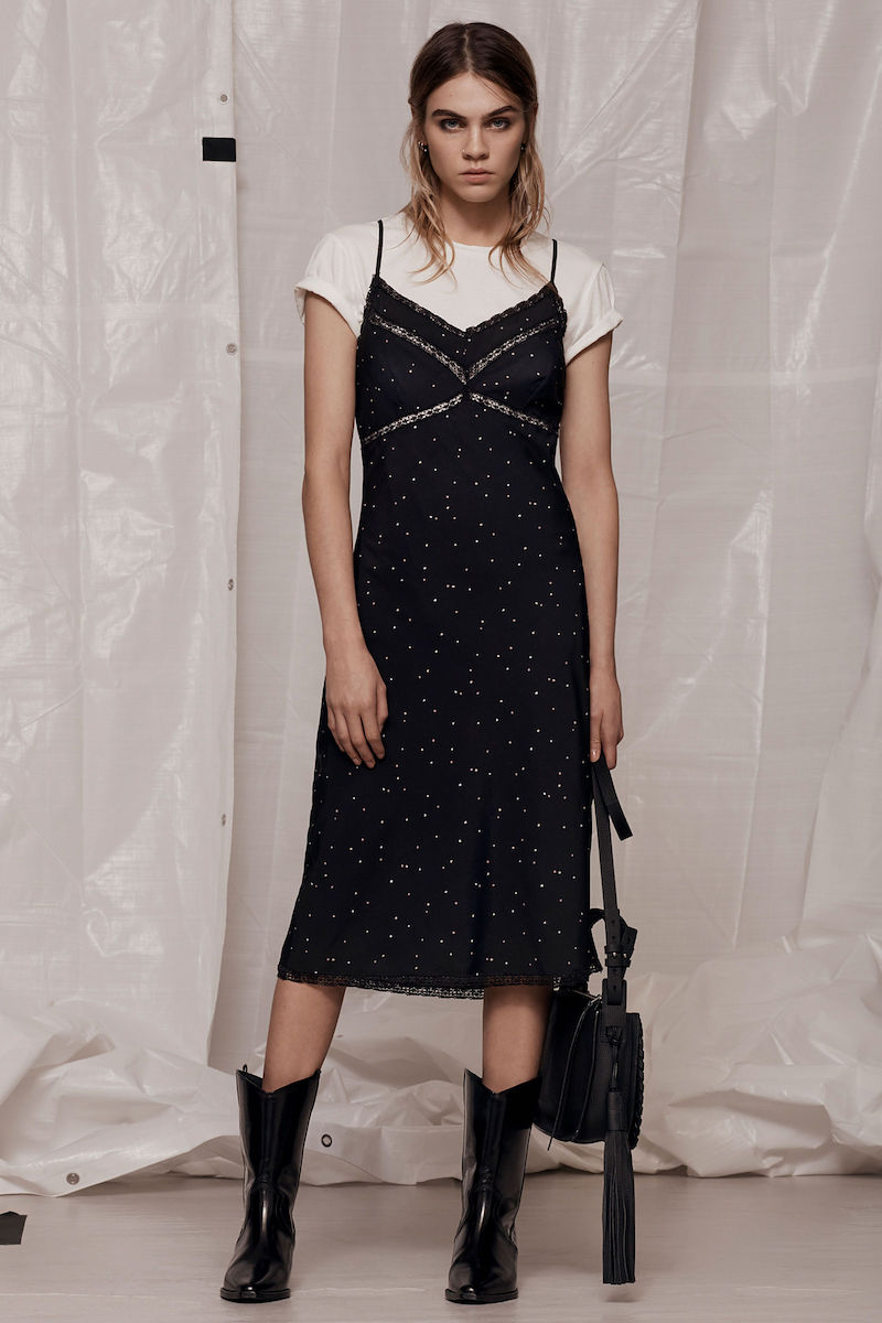 AllSaints Star Print Slip Dress