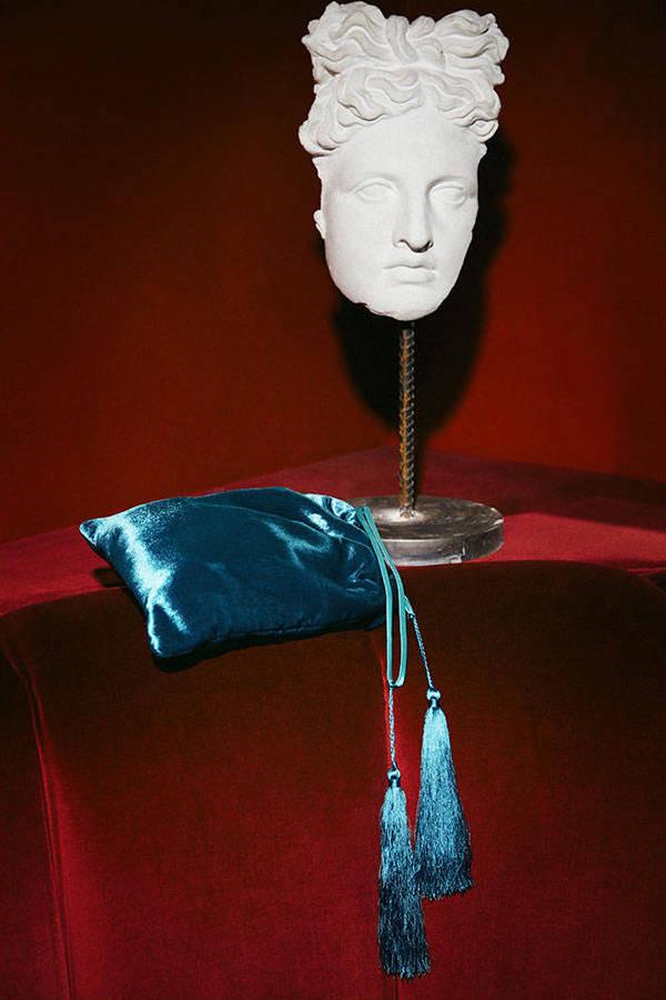Attico Crushed Velvet Pouch