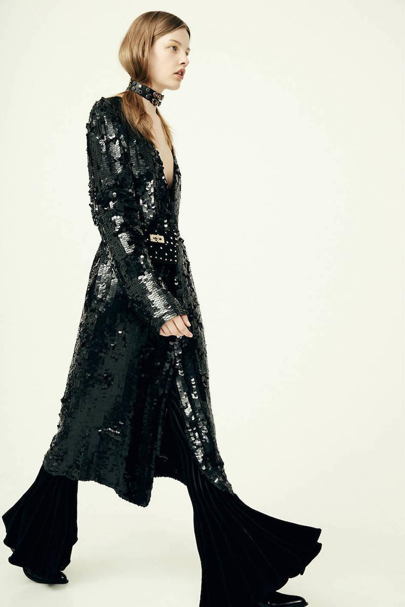 Attico Dara Sequined Georgette Coat