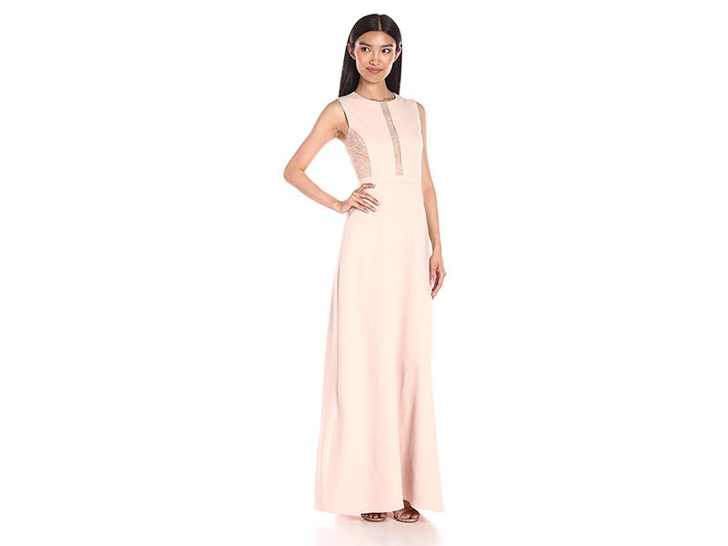BCBGMax Azria Ashlee Sleeveless Dress Lace Inset