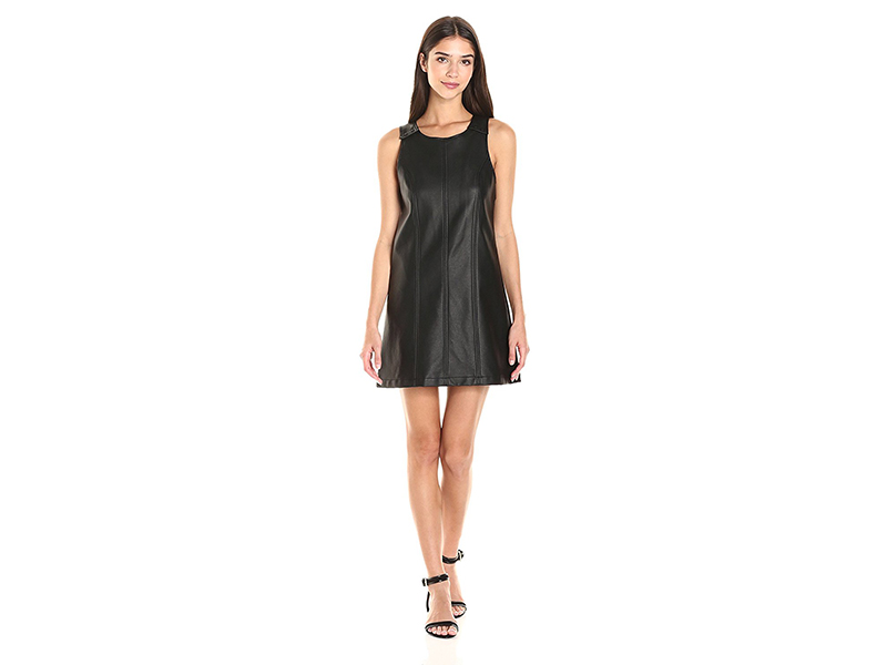 BCBGeneration Faux Leather Fit&Flare Dress