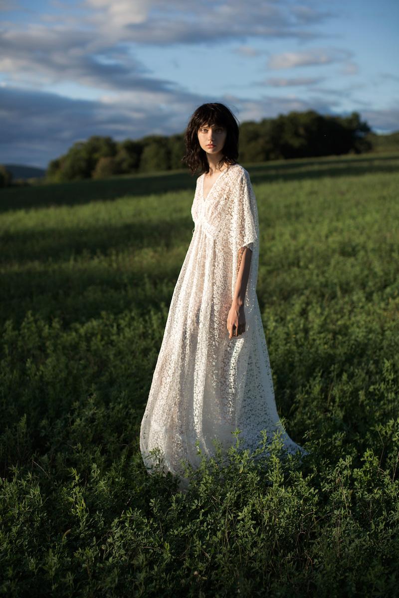 BY. Bonnie Young Cotton-Blend Lace Caftan