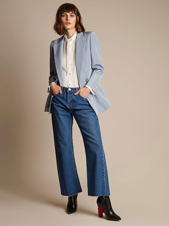 Blazé Milano Everyday Shamrock silk-faille blazer