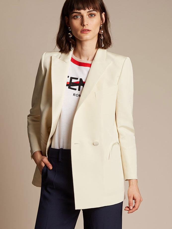 Blazé Milano Midnight Smoking Shamrock silk-faille blazer