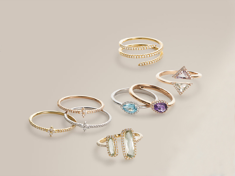 Bony Levy Diamond & Semiprecious Stone Teardrop Ring