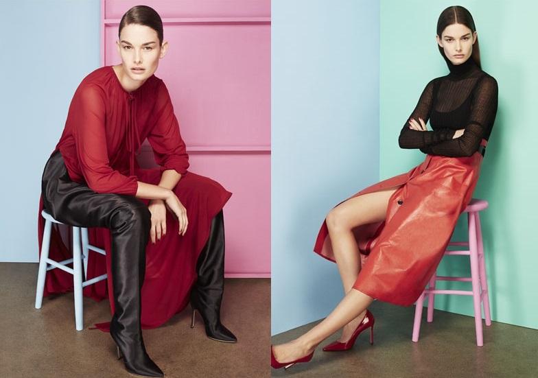 Bottega Veneta Belted glossed-leather midi skirt