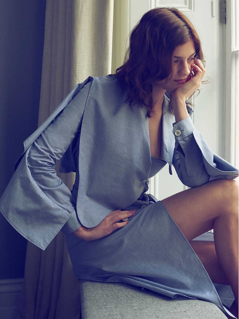 Burberry Ruffled Cotton-chambray Shirtdress