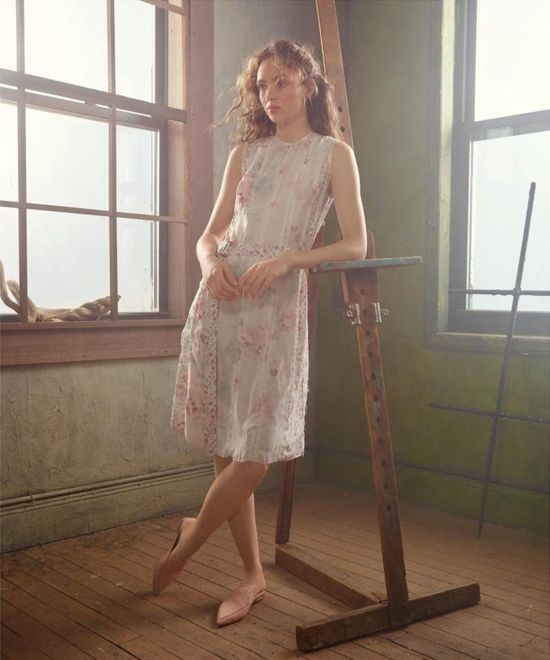 Calvin Klein Collection Floral Silk Dress