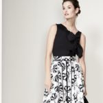 Carolina Herrera Café Umbrella Midi Skirt