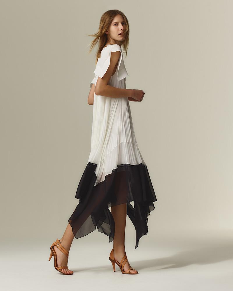 Chloé Butterfly-Hem Crepe Dress