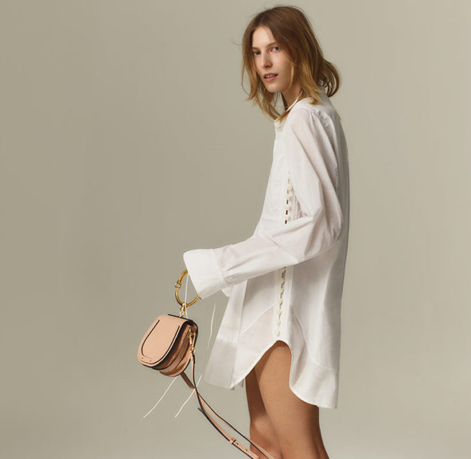 Chloé Nile Small Suede Cross-Body Bag