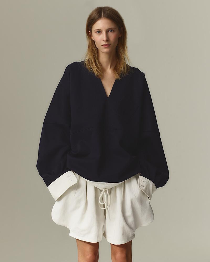Chloé Sailor-Collar Buttoned-Cuff Sweater