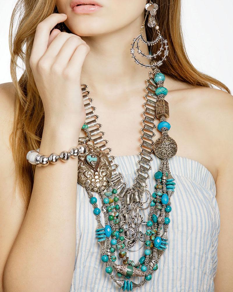 Devon Leigh Multi-Strand Turquoise Necklace