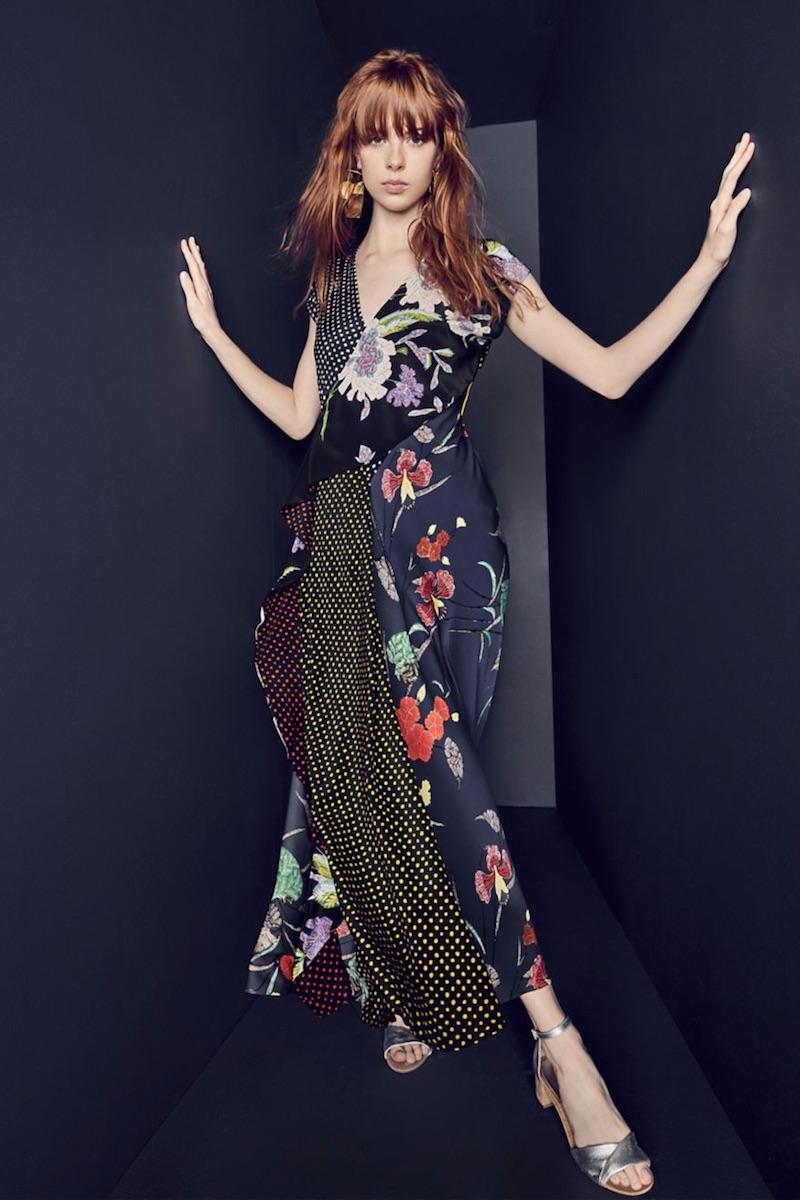 Diane von Furstenberg Draped Ruffle Gown