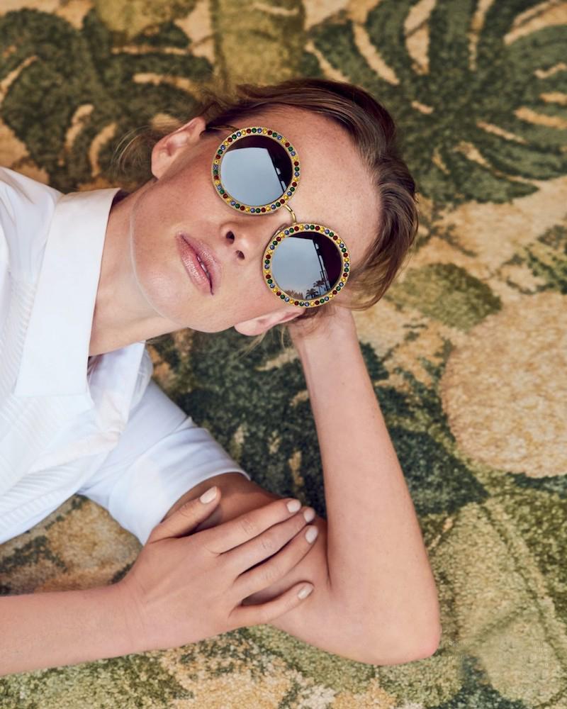 Dolce & Gabbana 51MM Crystal-Trim Round Sunglasses