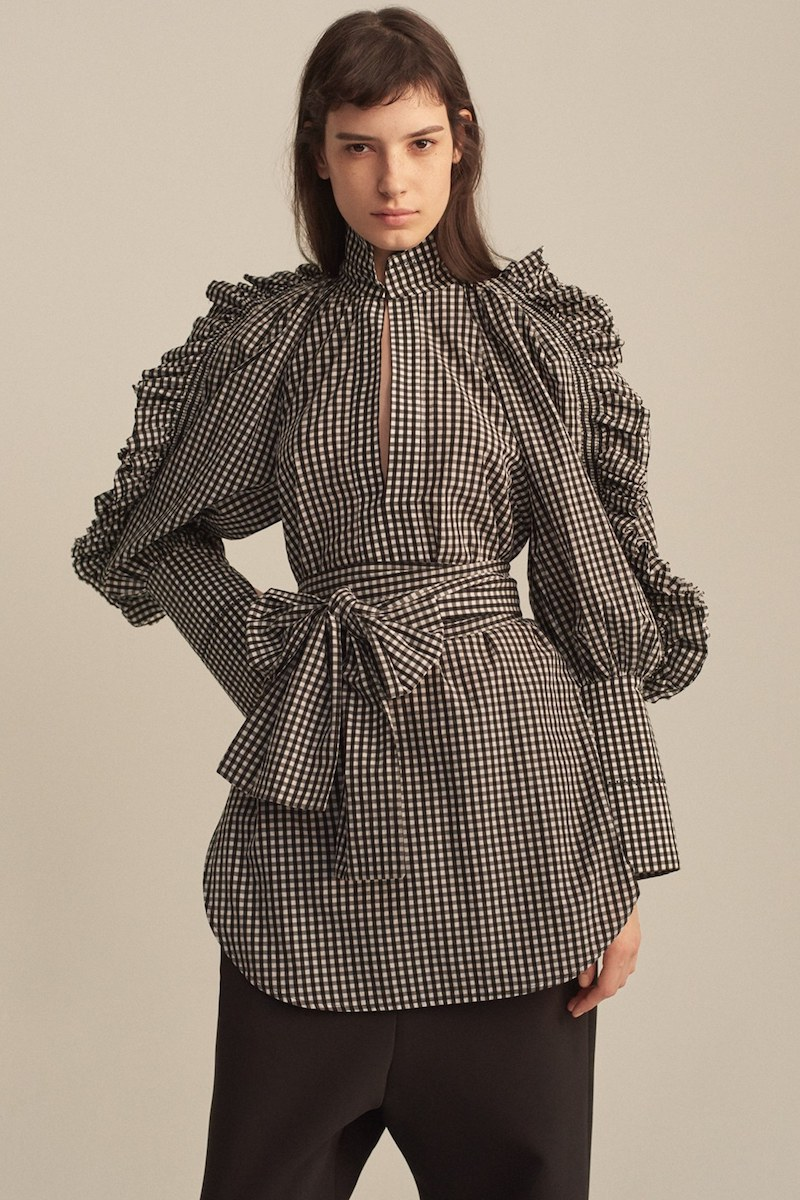 ELLERY Angel Face Waxed Gingham Top