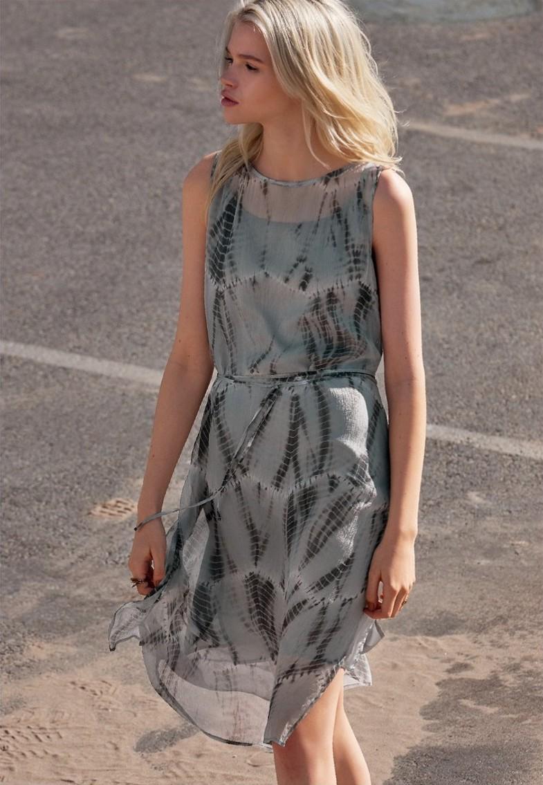 Eileen Fisher Shibori Silk Dress