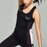 Elle Sport Midnight Fortitude Performance Vest With Built In Bra