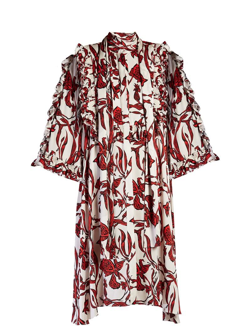Ellery Pascale ruffled floral-print dress