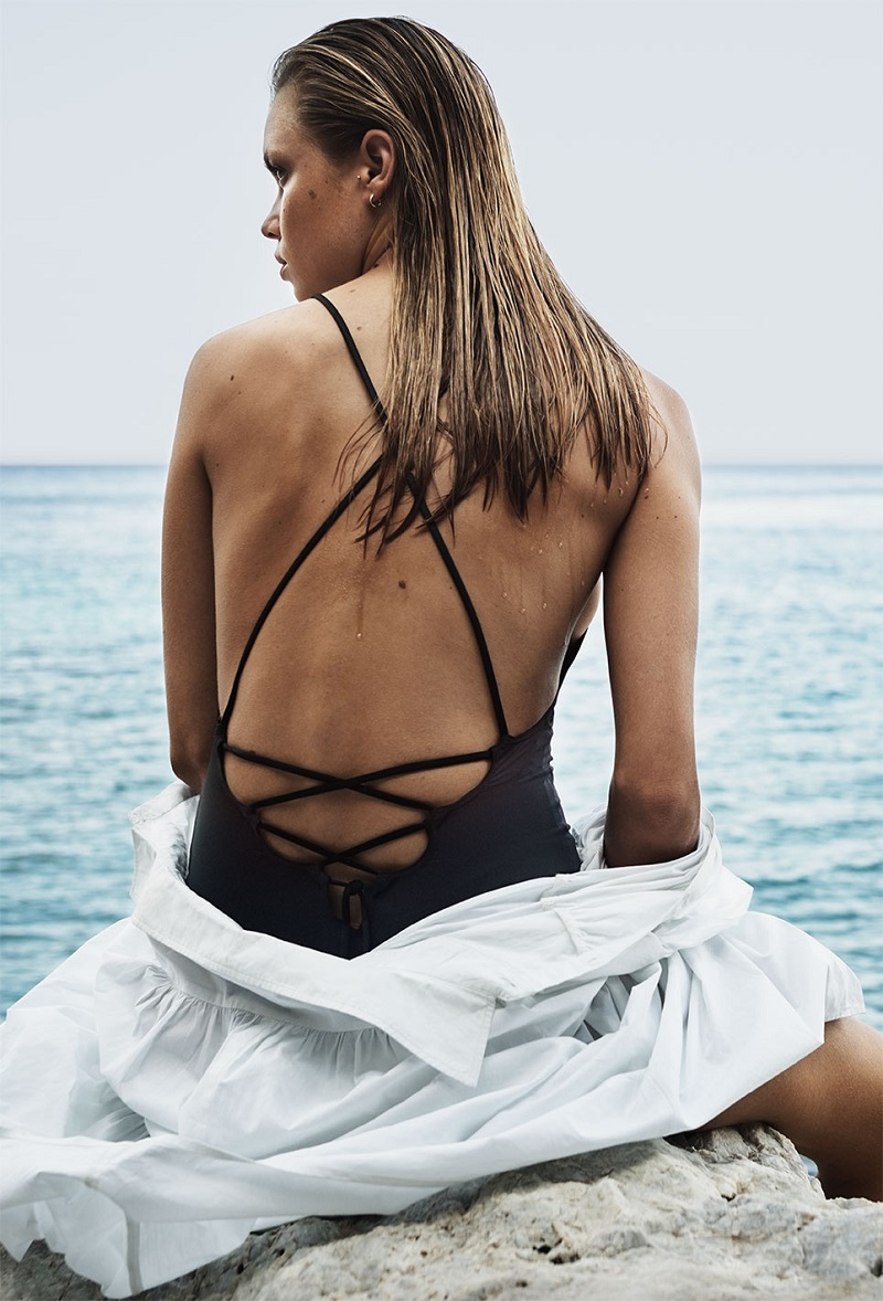 Ephemera Laced-back swimsuit