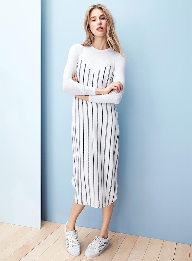 Equipment Dian Stripe Slip Dress